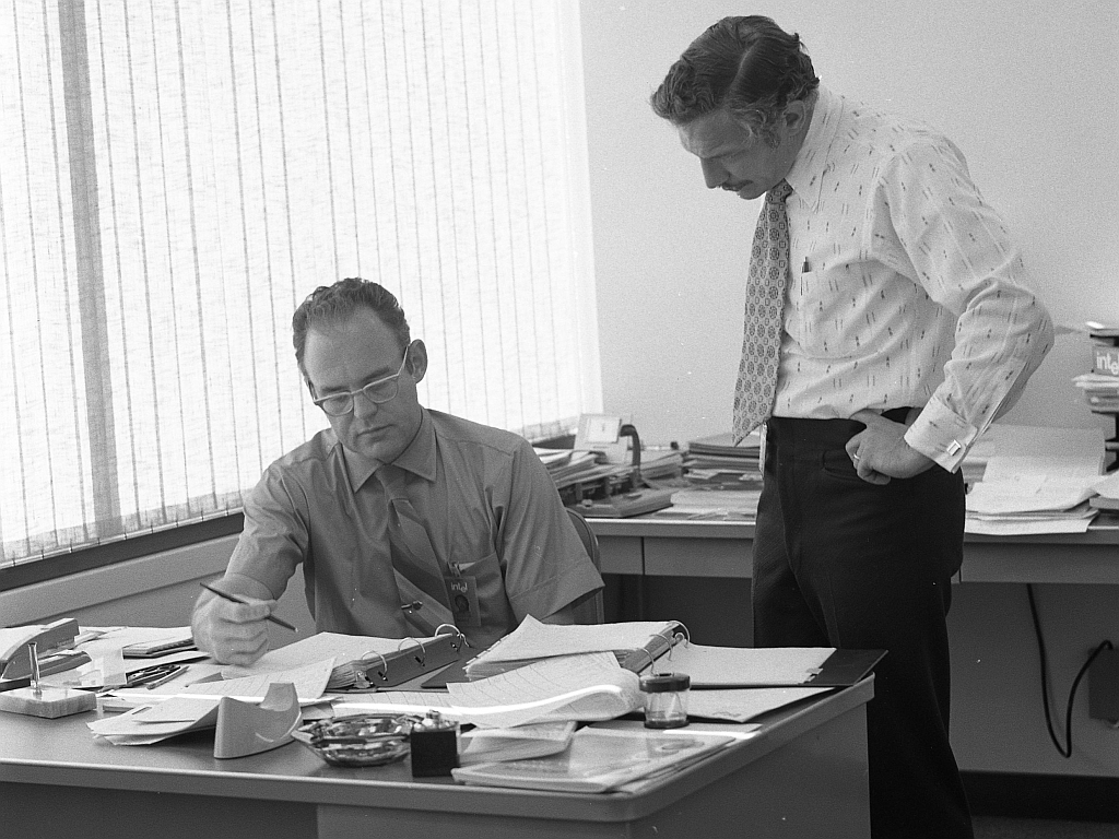 Gordon Moore & Robert Noyce
